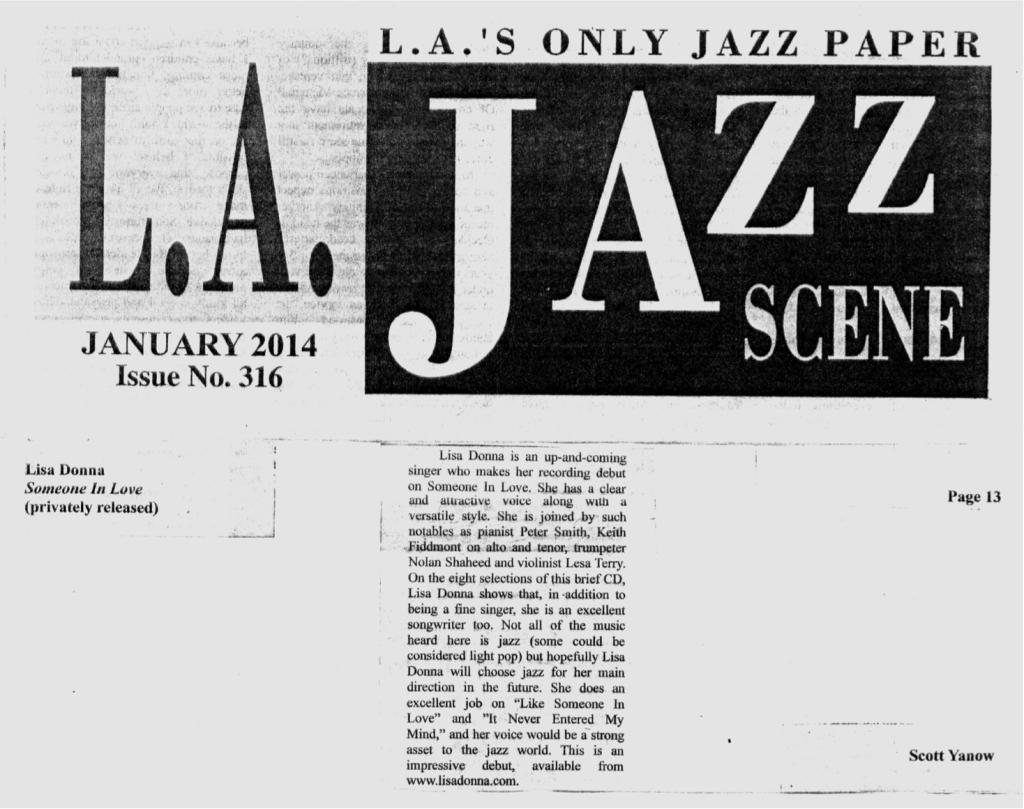 L.A. Jazz Scene Jan. 2014